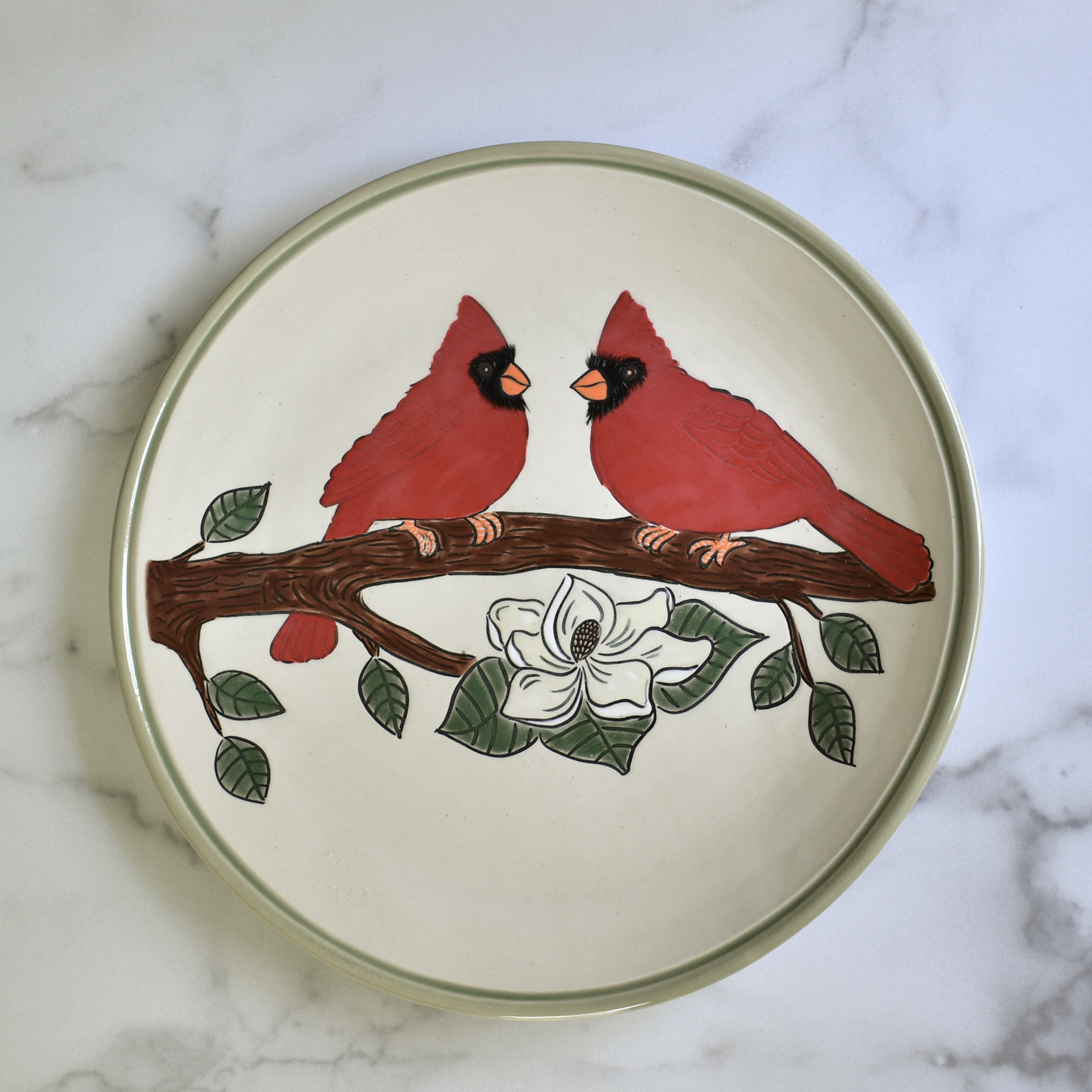 Red Cardinals  Plate